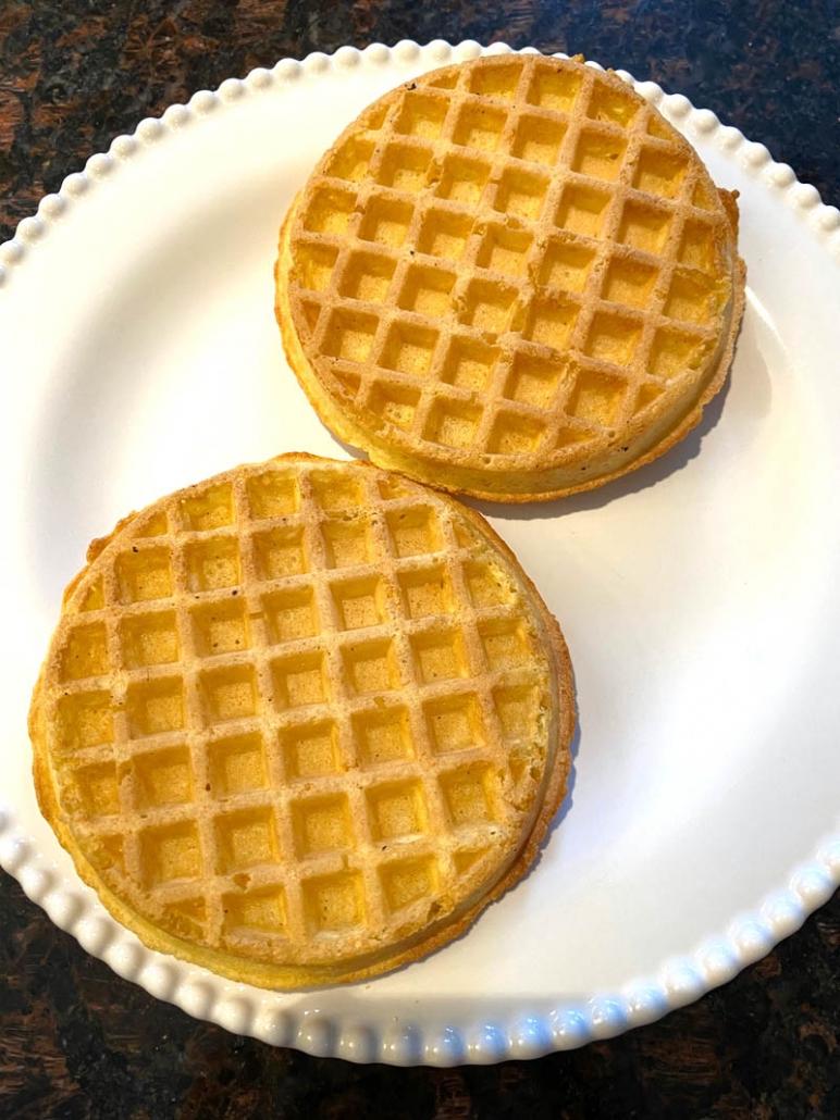 cooked eggo waffle