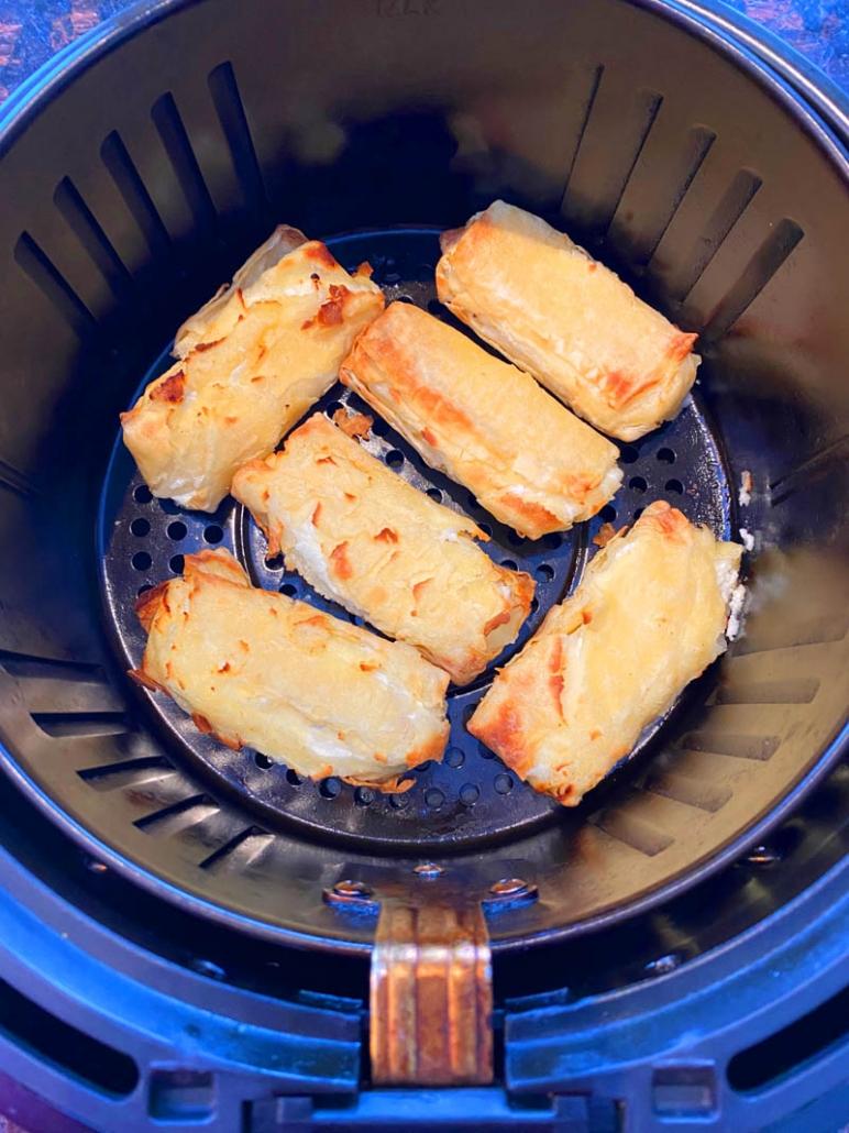 air fried frozen cheese blintzes