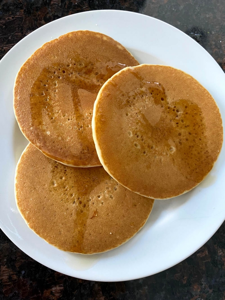 pancakes reheated in the air fryer