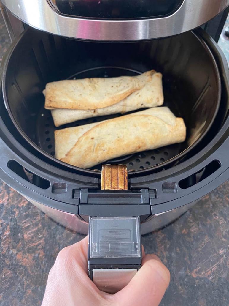 air fried chicken burritos