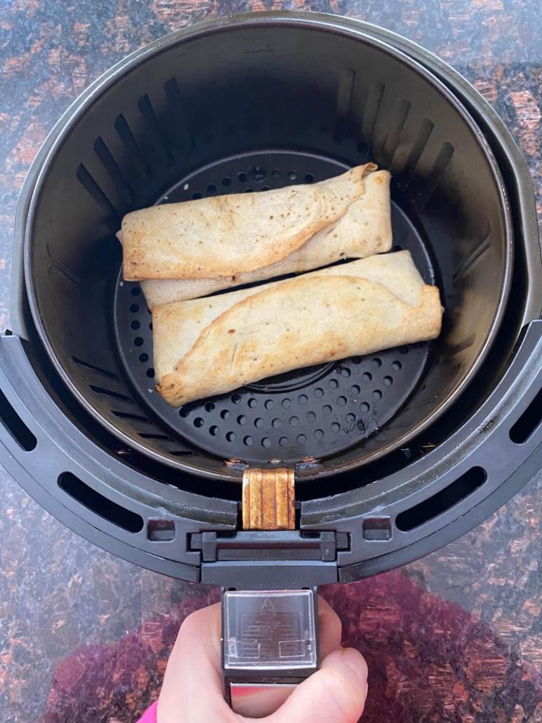 trader joe's frozen chicken burritos in the air fryer