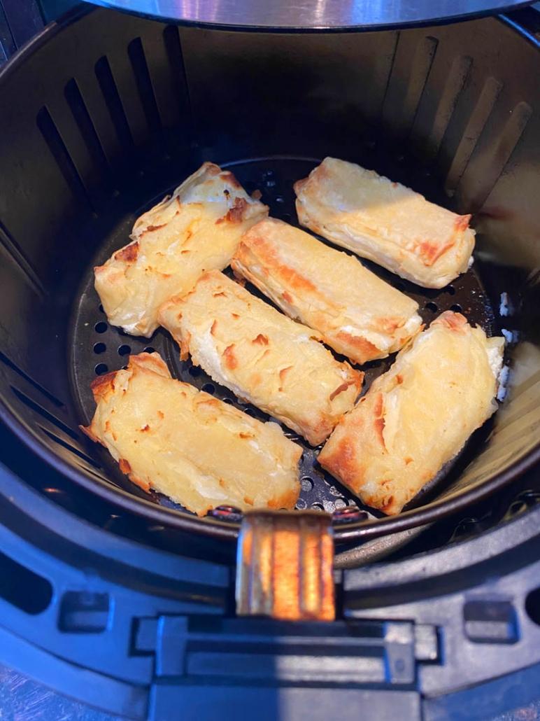 air fried cheese blintzes