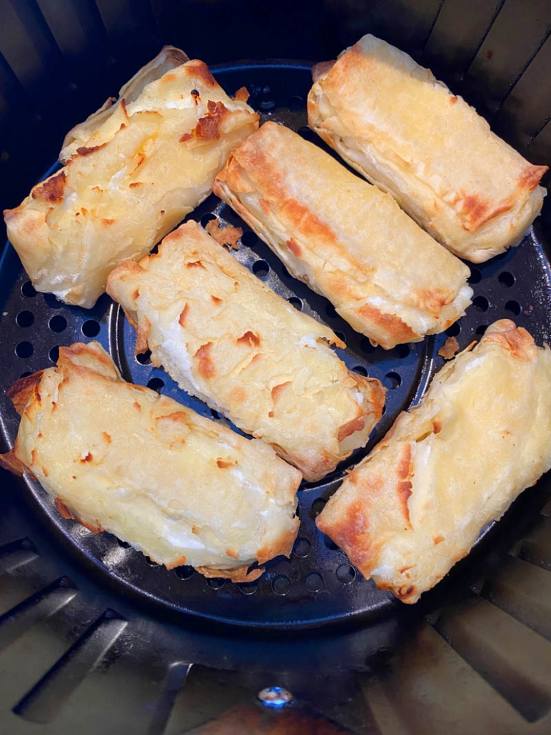 flaky cheese blintzes