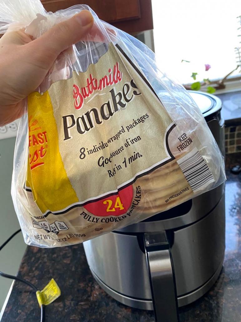 bag of frozen pancakes