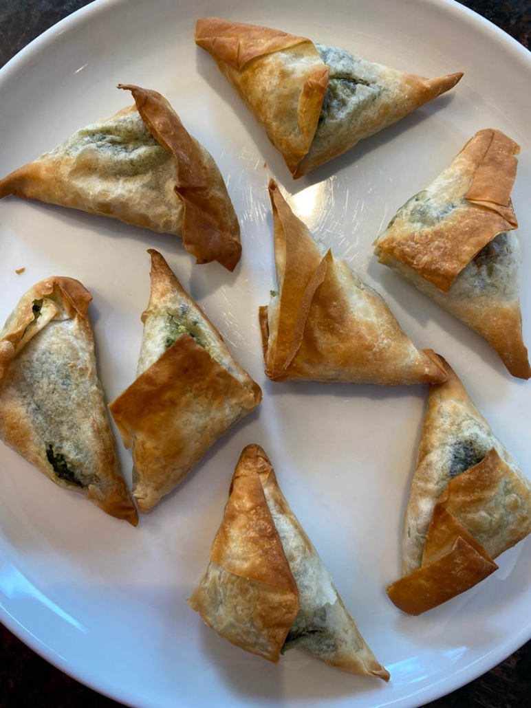air fried frozen spanakopita appetizer