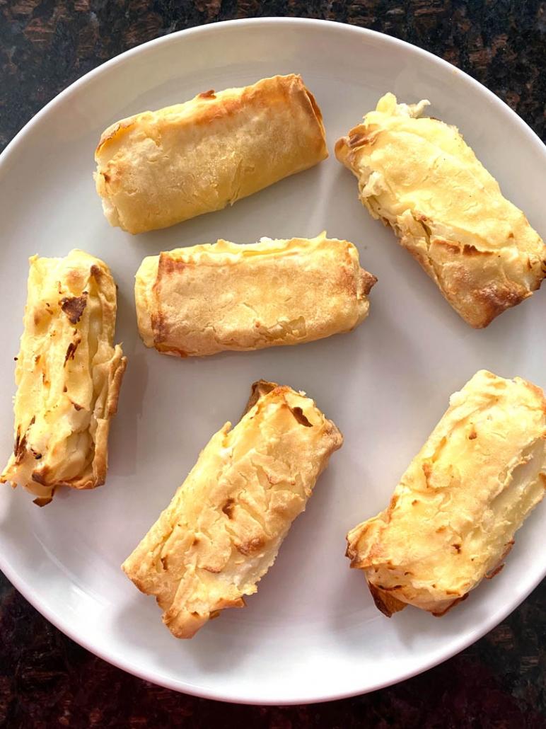 Air Fryer Frozen Cheese Blintzes