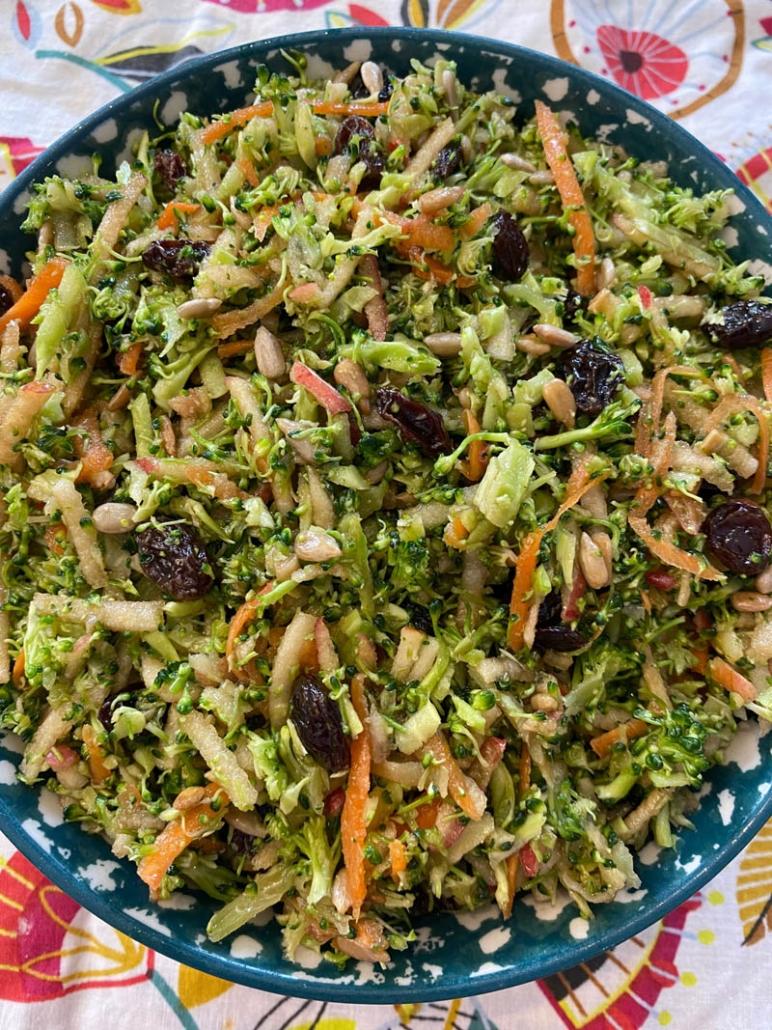 broccoli salad in bowl
