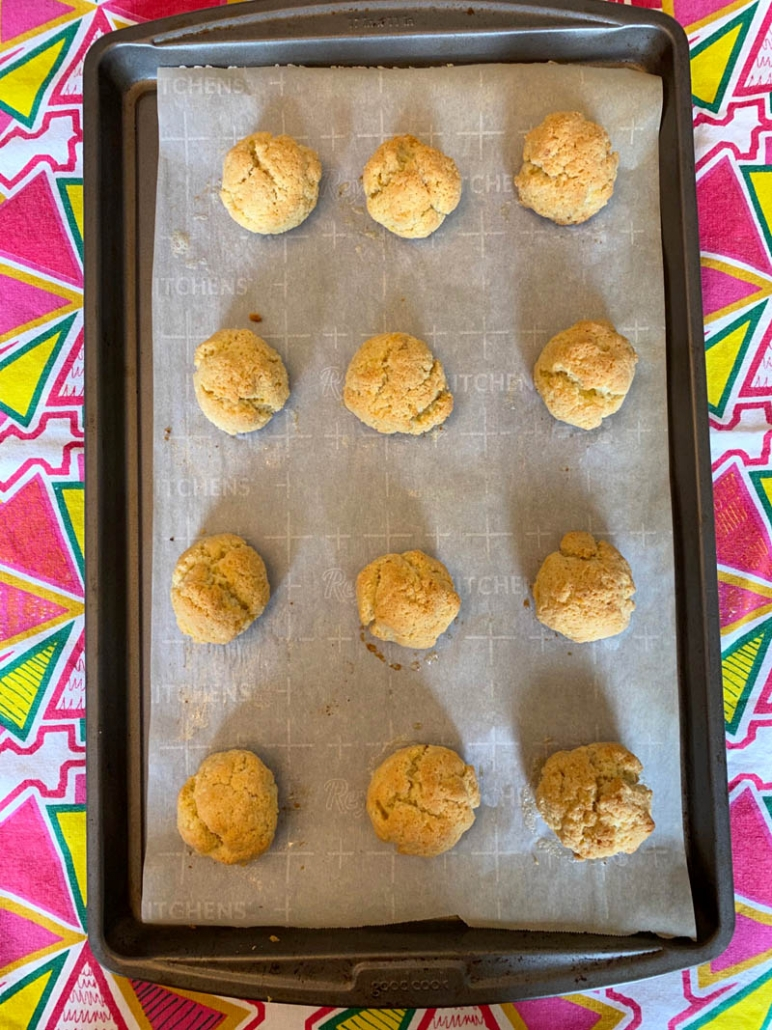 dairy free biscuits of a baking sheet