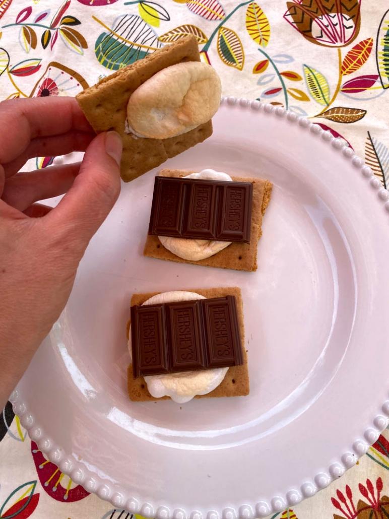 s'mores sandwich graham crackers