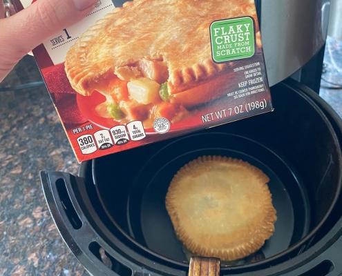 Air Fryer Frozen Chicken Pot Pie