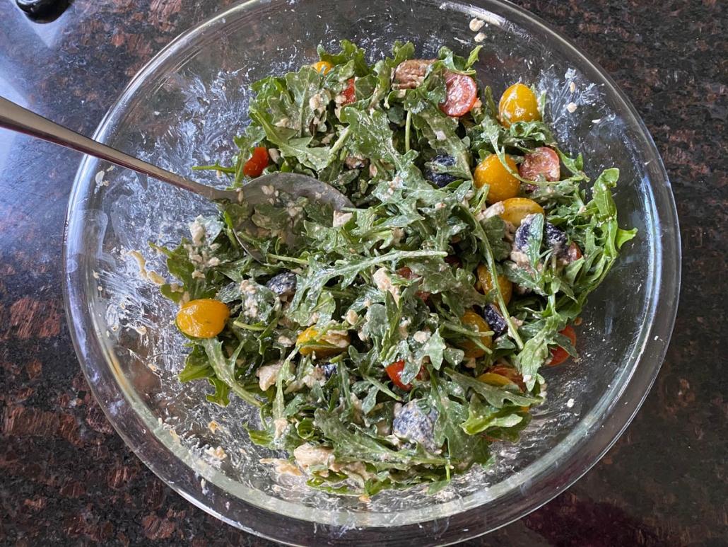 Arugula Burrata Salad With Figs