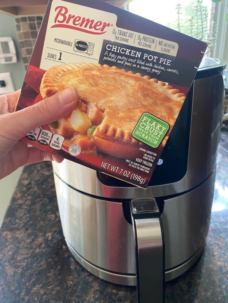 a box of frozen chicken pot pie