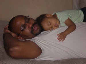 lou and jacob sleeping