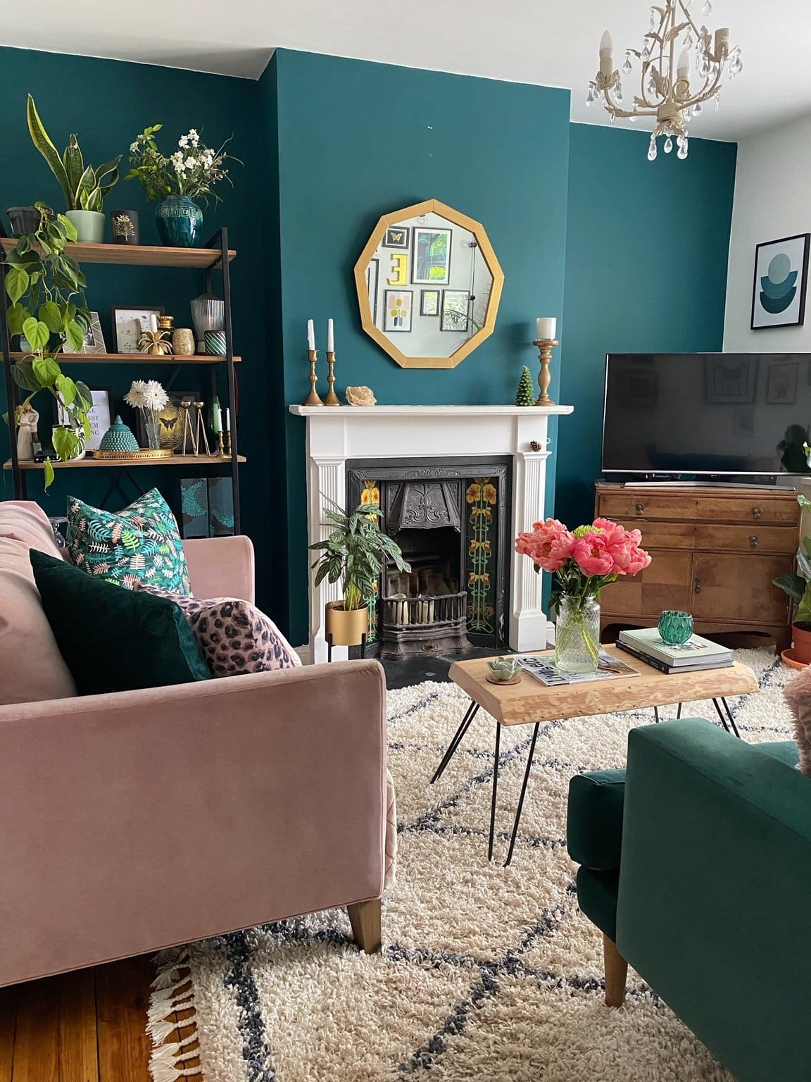 How To Use Dark Green in Your Living Room - Melanie Jade Design