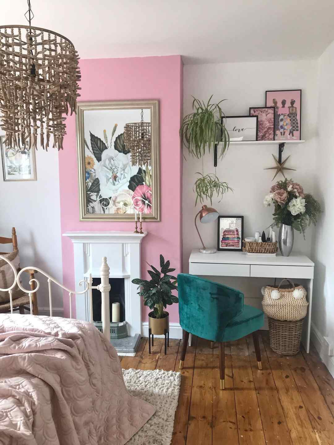 Updating our Bedroom With Valspar Pink Paint