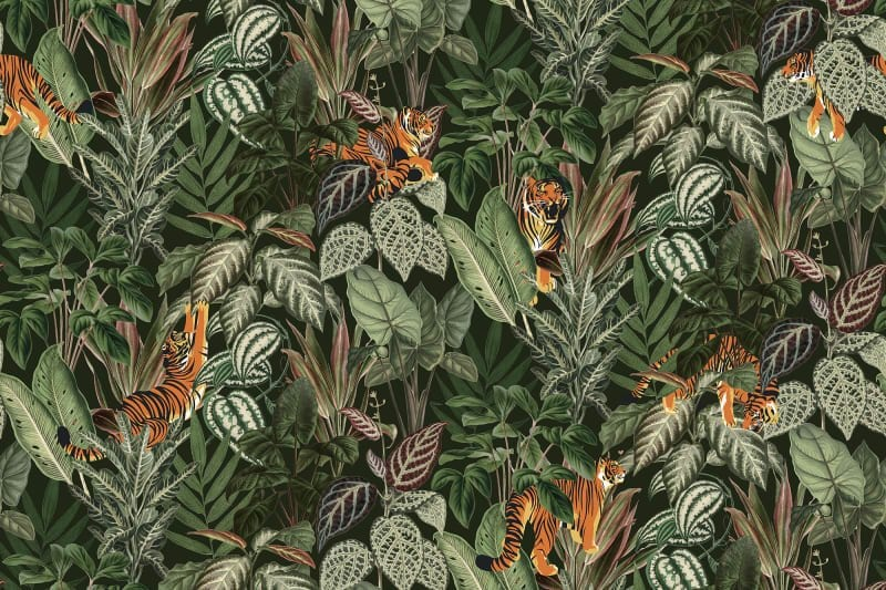 boys, bedroom, boys bedroom, boys decor, bedroom ideas, bedroom decor, jungle, jungle theme, jungle themed room, green, mustard, curtains, furniture, bedroom furniture, wallpaper