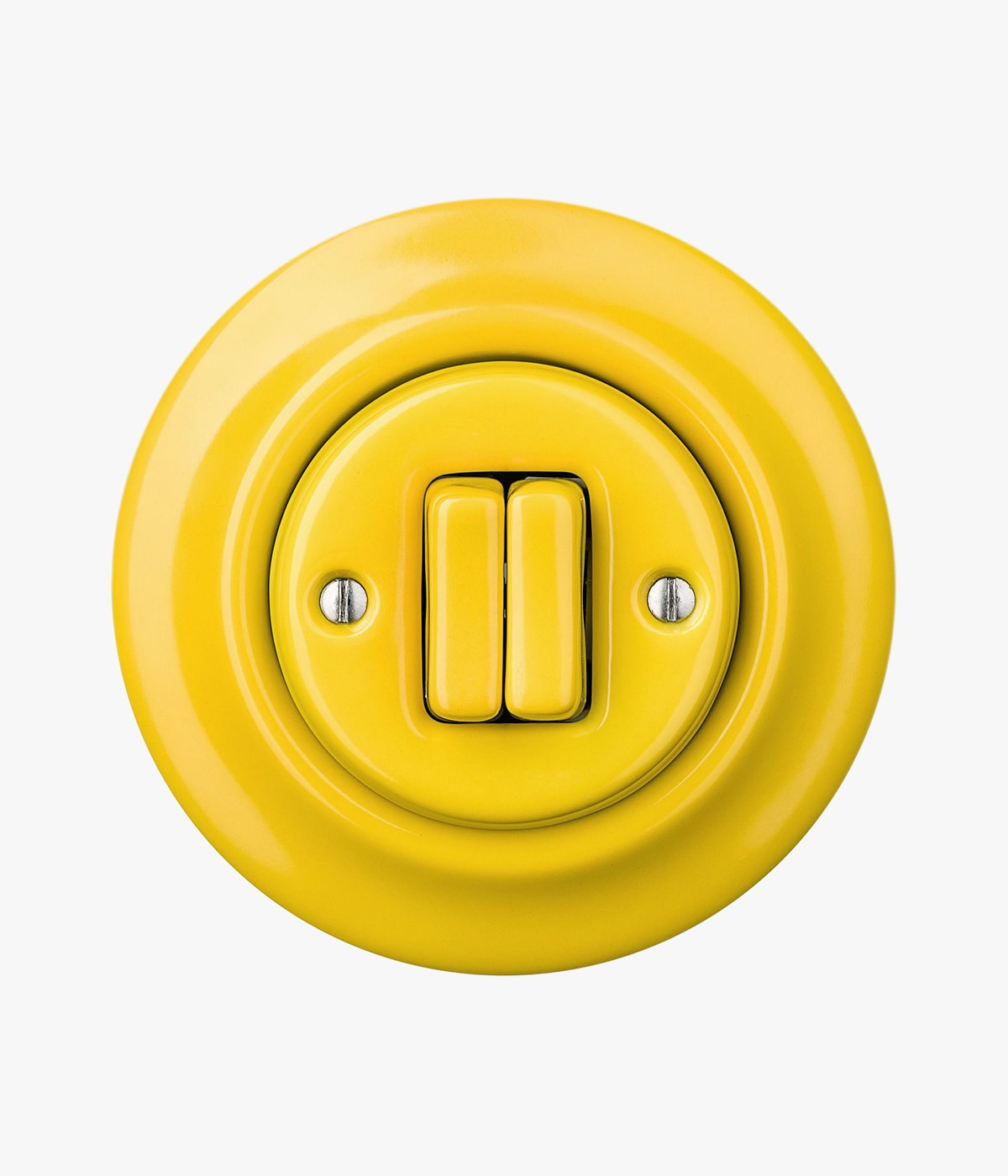 yellow round double switch