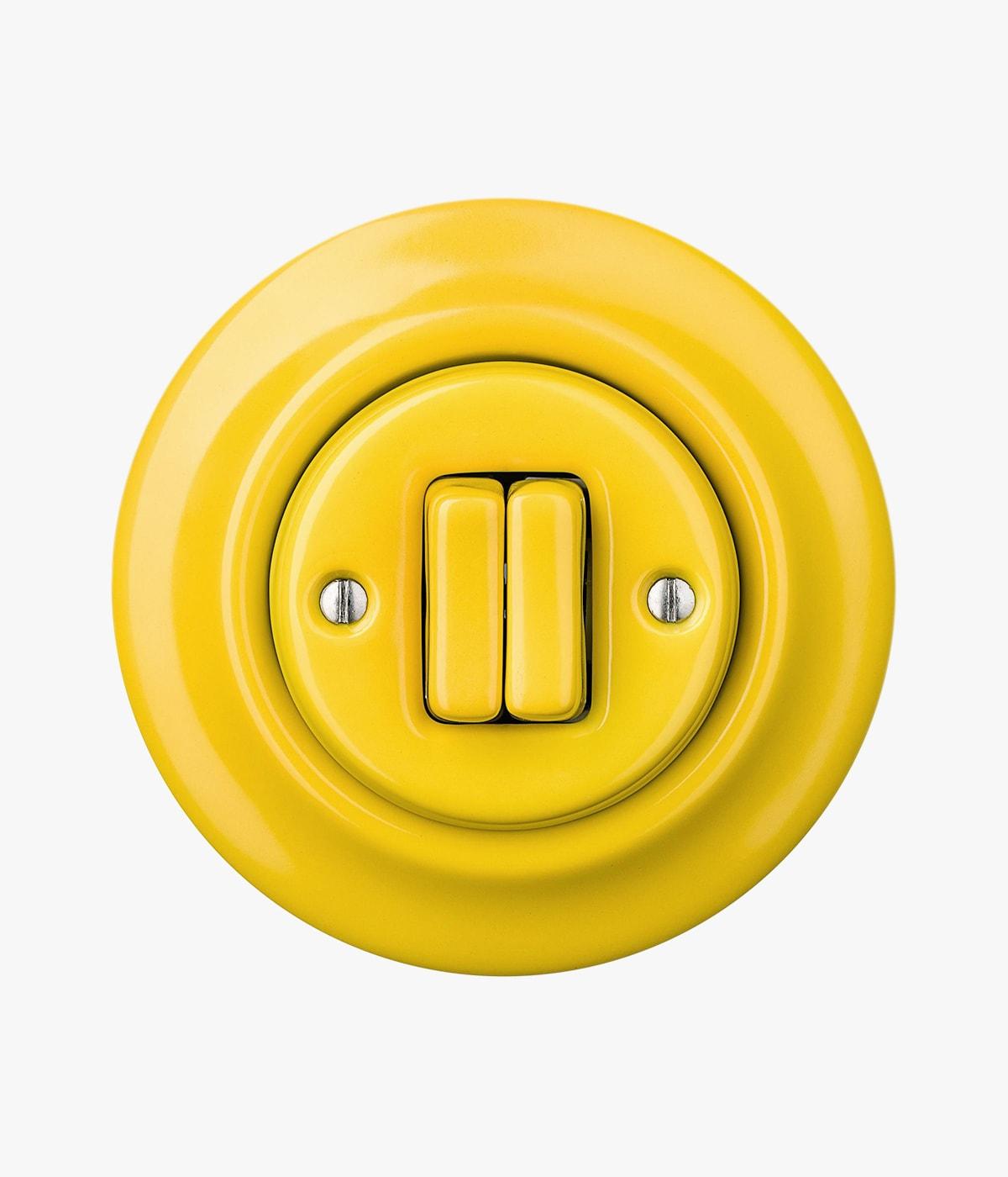 sarı yuvarlak çift anahtar
