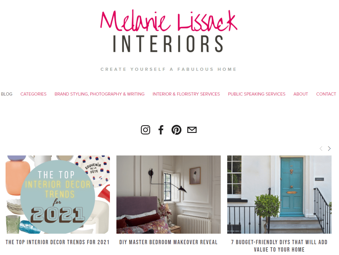 melanie lissack interiors home blog page