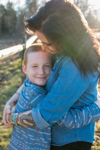 Pottstown family photographer mother and son photo session