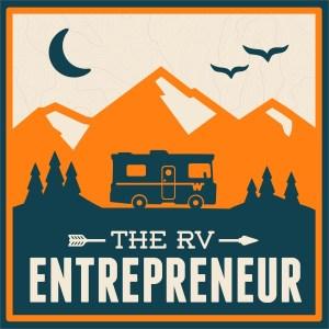 RV Entrepreneur Podcast blue and orange logo