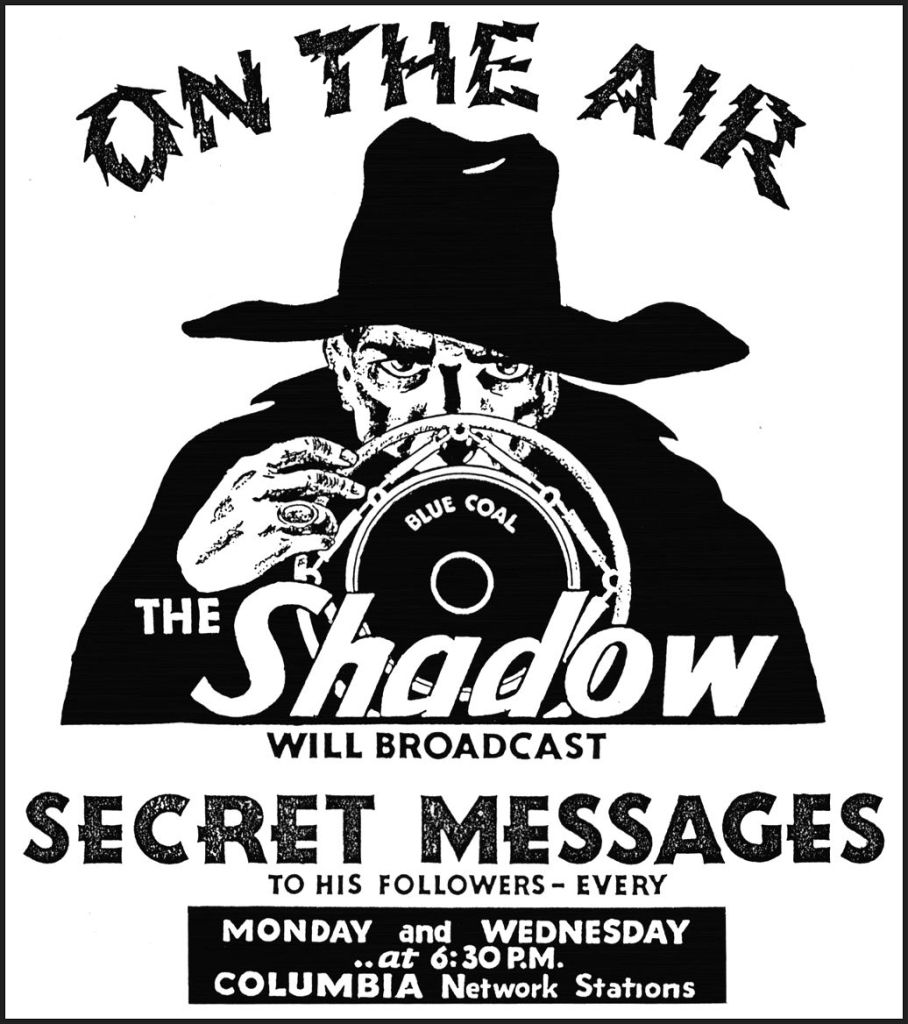 the shadow on the air radio show black and white