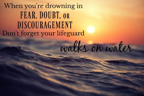 Your Lifeguard Walks On Water, Christ Is Your Lifeguard