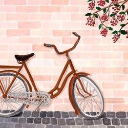 La bicyclette - Gouache