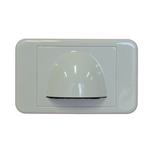 Media Style - Wall Plate - Slim (Bull Nose) Cable Entry with Bristle