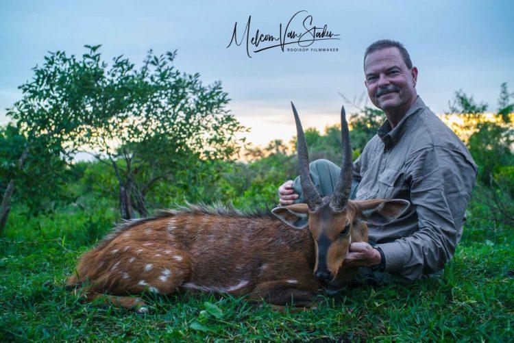 Melcom Van Staden - Uganda Wildlife Safaris Hunting Sitatunga - Kafu River Camp - Nile Bushbuck