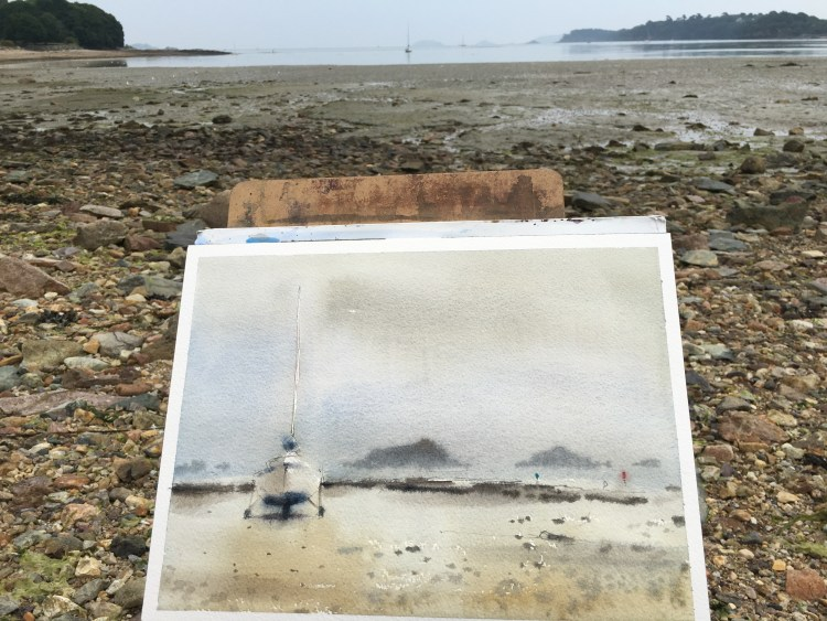 Photo of watercolour by David Meldrum