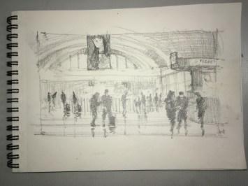 Sketch of Stockholm Central Station