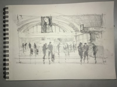 Sketch of Stockholm Central Station