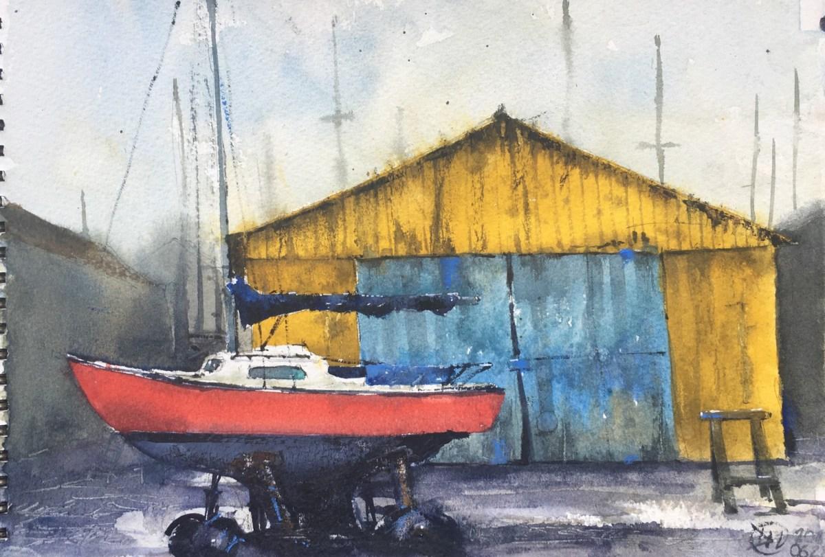 Boat yard - Paimpol, Brittany