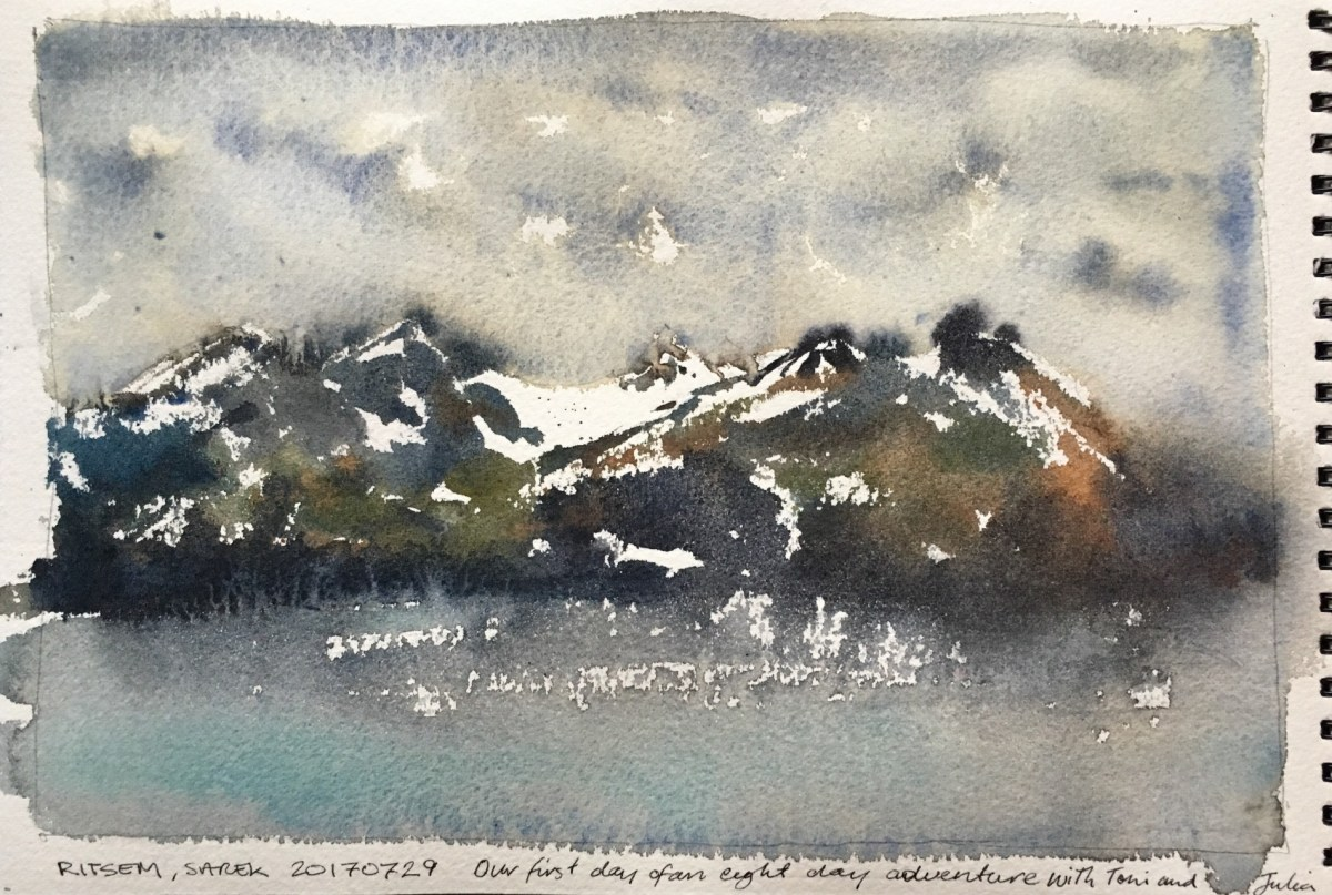My sketches from trekking in Padjelanta