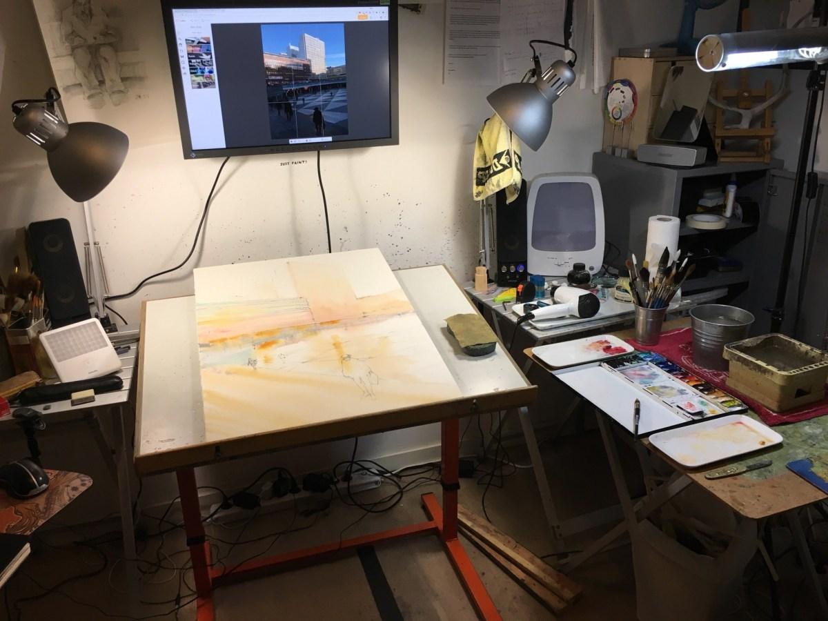 My studio – my palette