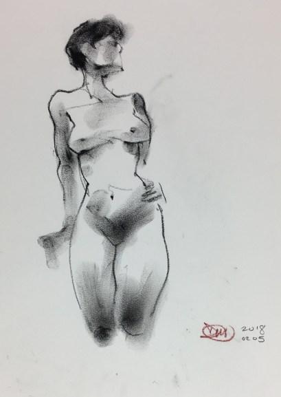 A David Meldrum life drawing