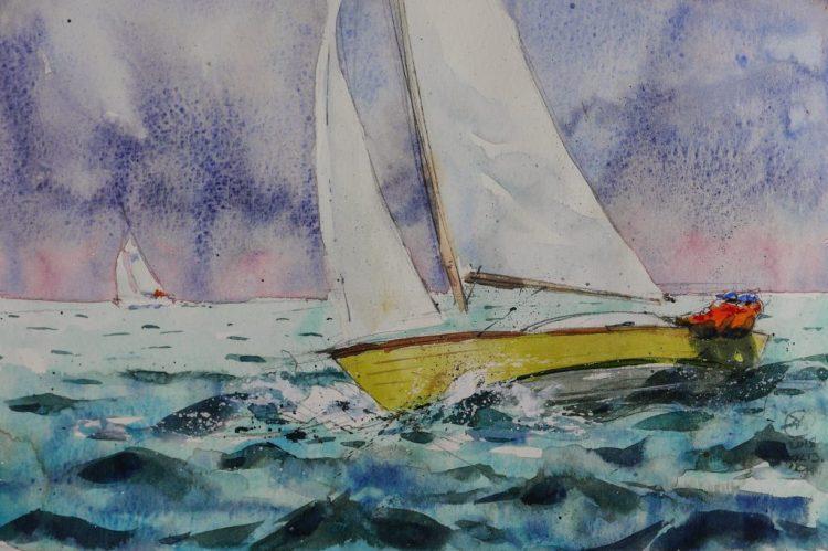 Moleskin watercolour sketch 29 x 21 cm by David Meldrum