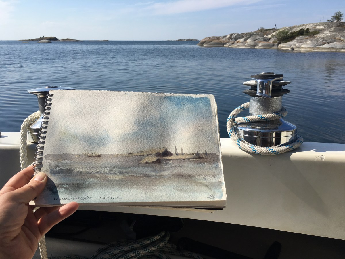 Watercolour sketches from the archipelago