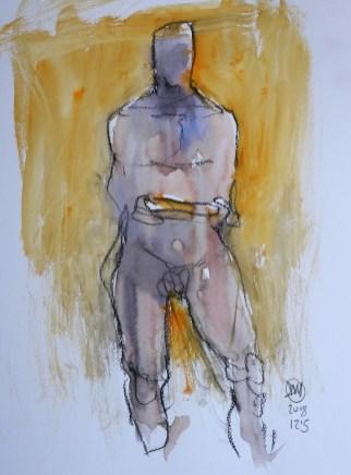 meldrum watercolour nude sketch