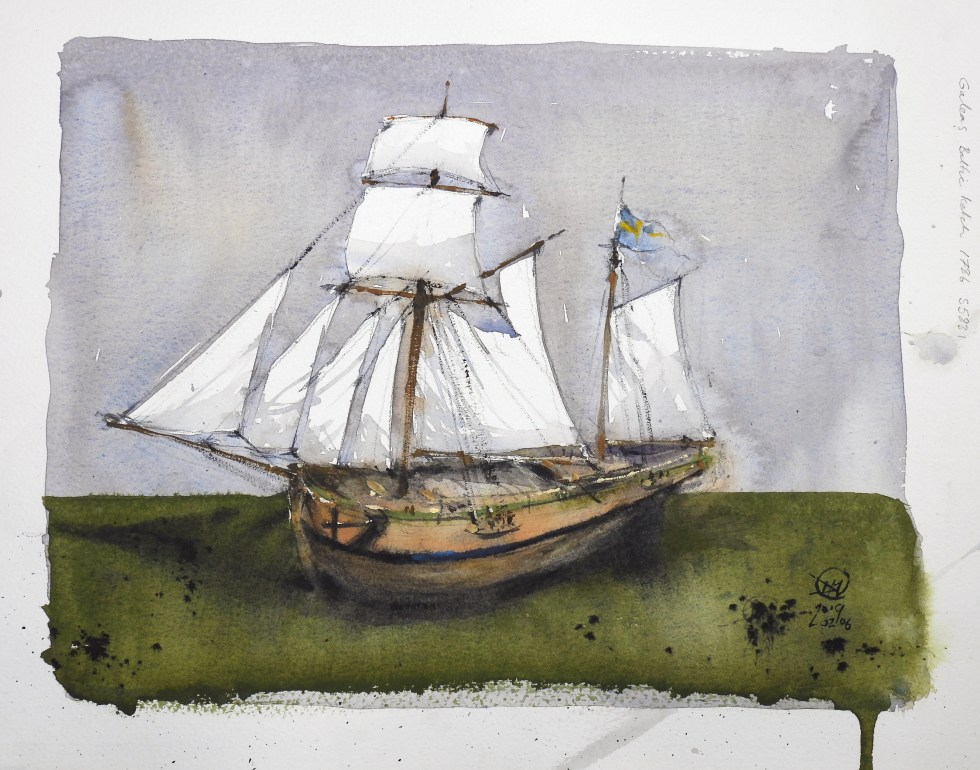 Galeas Baltic ketch 1786 - Meldrum Art