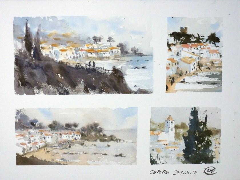 First sketches from Calella