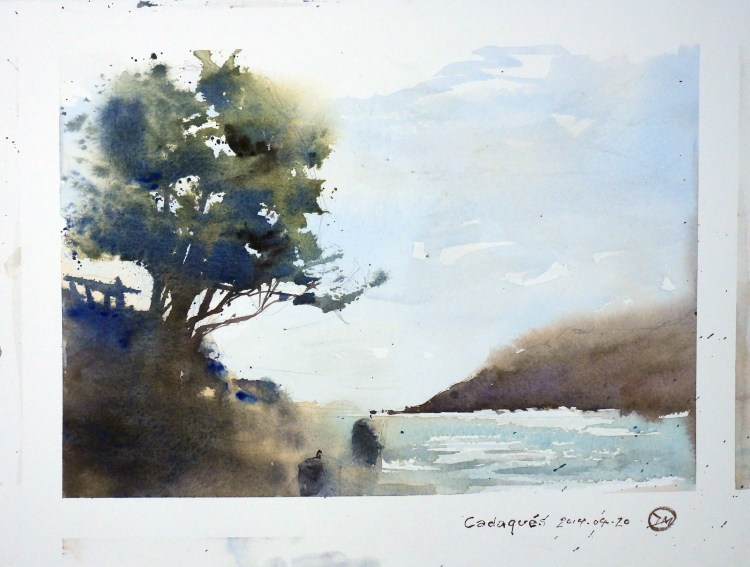 A study of a tree in Cadaqués