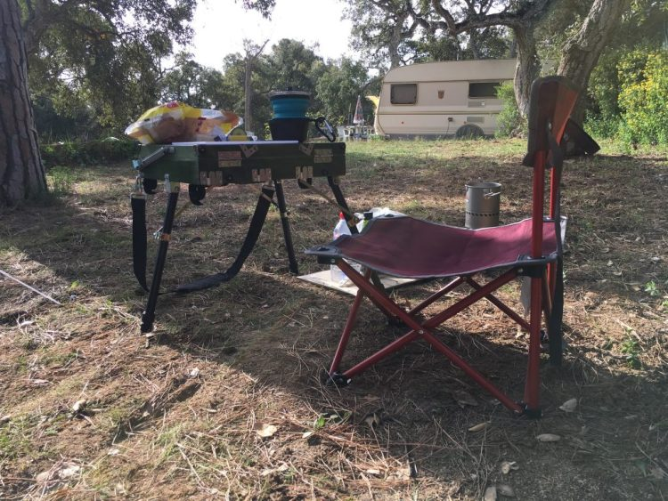 I use my field easel as a table