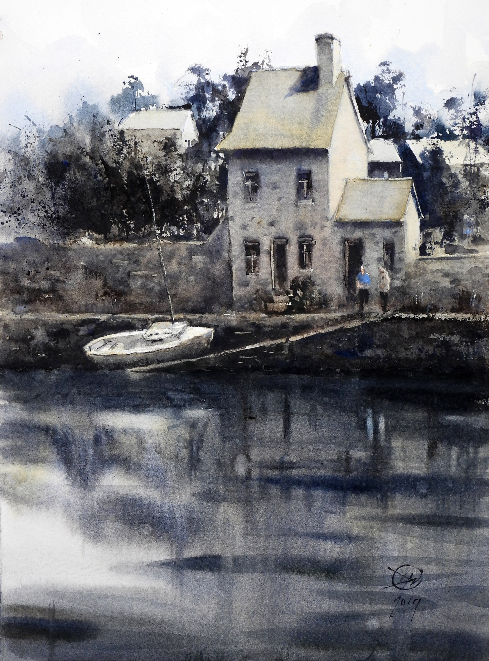 A watercolour from Pontrieux