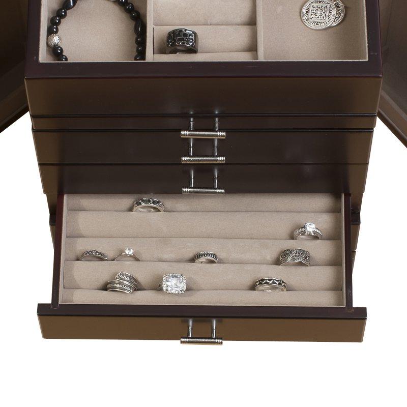 Geneva Wooden Jewelry Box Mele Amp Co