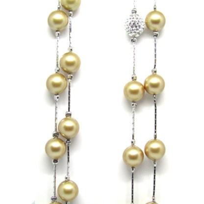 Collana donna argento e perle Diva Gioielli
