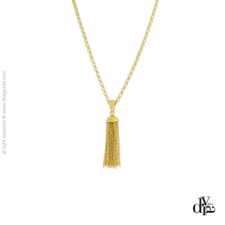 collana donna argento 925 dorato Defilè cm. 43 Diva Gioielli made in italy