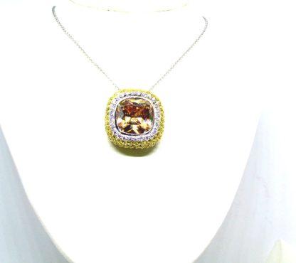 collana donna argento pietre dure zirconi