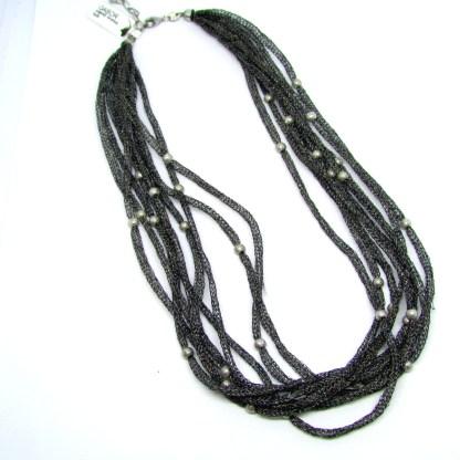 collana,donna,argento,gioielli,made,italy,girocollo,tessuto